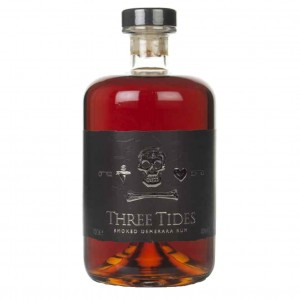 THREE TIDES SMOKED DEMERARA RUM 70CL