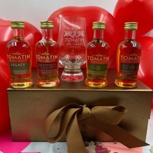 TOMATIN MINIATURES GIFT SET WITH GLASS