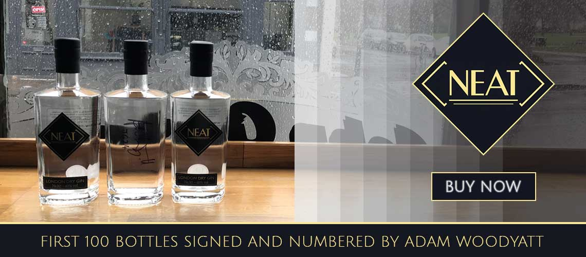Neat Gin by Adam Woodyatt first 100 signed and numbered