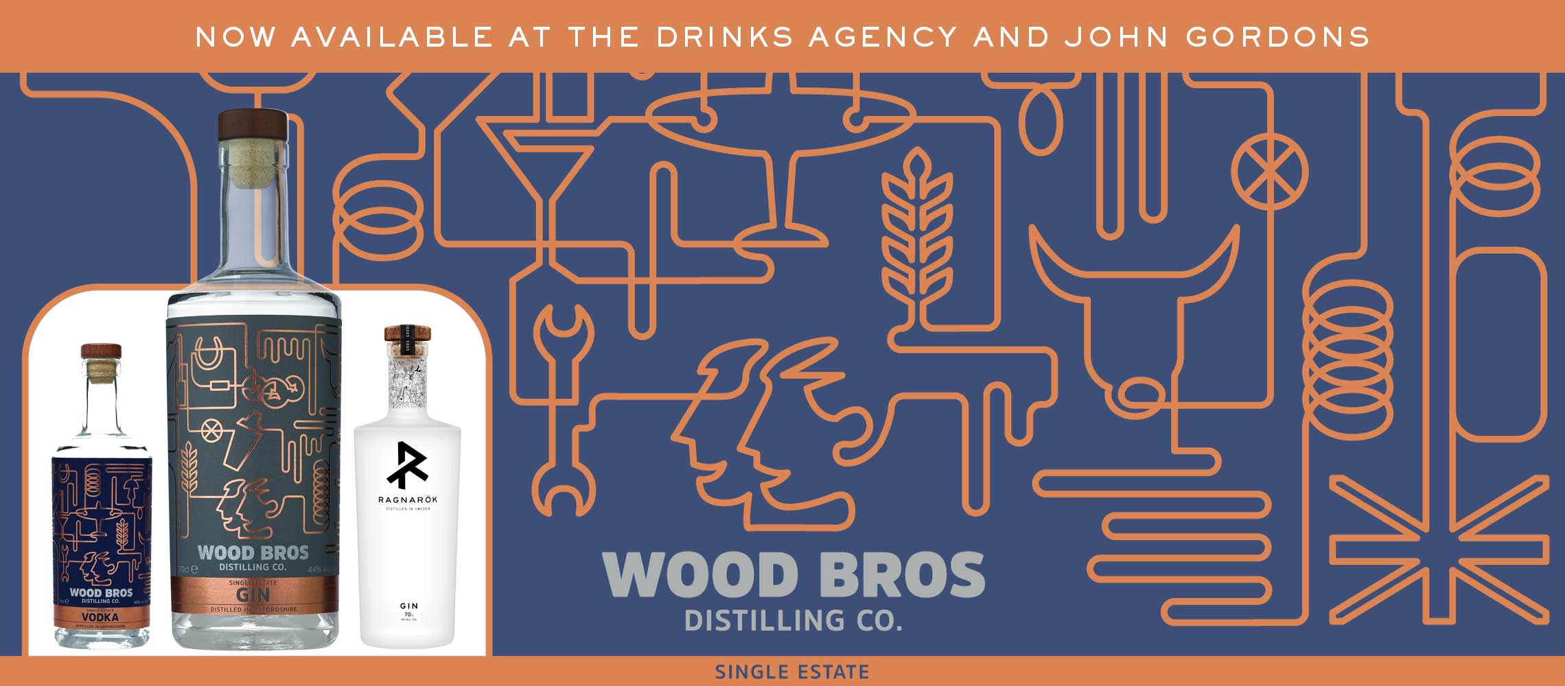 Buy the full range of Wood Bros Distillery Gins and Vodka here